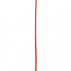 Cord polyester 1.5 mm red -5 meters