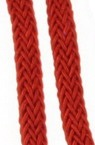 Polyester cord flat 7.5x4.5 mm red -1 meter