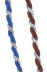 Cord polyester 2.5 mm twisted with lame color ASSORTE -1 meter