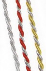Cord polyester 2.5 mm twisted with lame Mix-1 meter