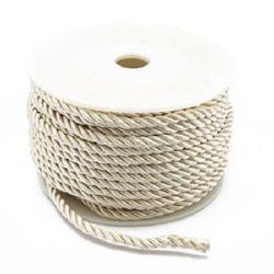 Shnur poliester 3 mm alb -1 metru