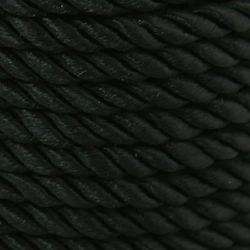 Шнур полиестер 5 мм черен -1 метър