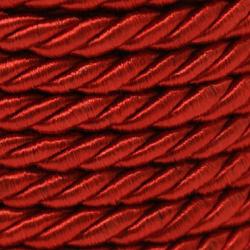 Shnur poliester 5 mm roșu -1 metru