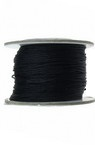 Polyester jewellery cord 0.8 mm black -1 meter