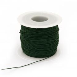 Шнур полиестер 0.8 мм зелен тъмно ~120 метра