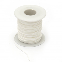 Polyester jewellery cord.5 mm white ~ 45 meters