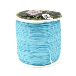 Κορδόνι πολυεστέρα 1 mm μπλε ~ 80 μέτρα