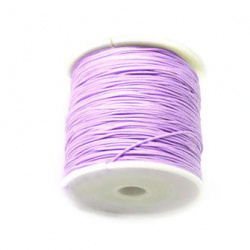 Polyester jewellery cord1 mm purple light ~ 90 meters