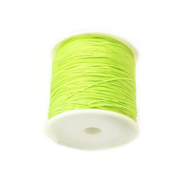 Cord polyester 1 mm green light ~ 90 meters