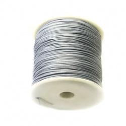 Шнур полиестер 1 мм сив тъмен ~90 метра