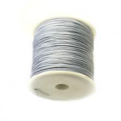Шнур /конец/ полиестер 1 мм сив светъл ~90 метра