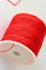Шнур полиестер 1 мм червен ~90 метра