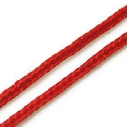 Cord polyester 1 mm red ~ 1 meter