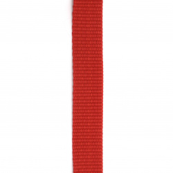 Polyester tape 25x2 mm color red -1 meter