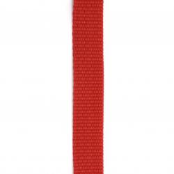 Лента полиестер 25x2 мм цвят червен -1 метър
