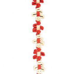 Ширит плетен цветя 14 мм -20 метра