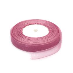Лента органза 15 мм лилава светла ~45 метра