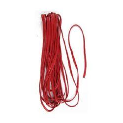 Лента изкуствена кожа 5 мм 10 метра червена