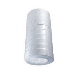 Panglica Organza 20 mm argintiu ~ 22 metri