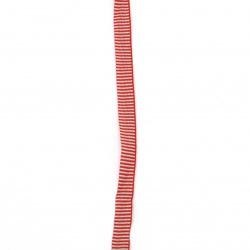 Ширит рае 10 мм бяло червено -5 метра