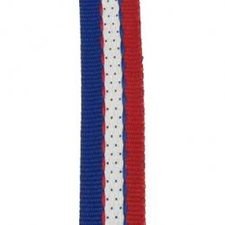 Ширит 15 мм червен син и бял