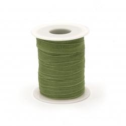 Κορδέλα οργάντζα 10 mm πράσινο ~ 45 μέτρα