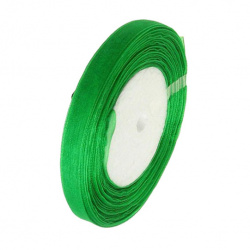 Лента органза 10 мм зелена тъмно -45 метра