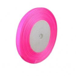 Κορδέλα οργάντζα 10 mm ροζ ~ 45 μέτρα