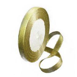 Лента oрганза 10 мм злато ~22 метра