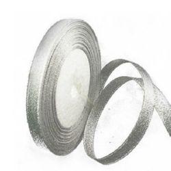 Panglica Organza 10 mm argintiu ~ 22 metri
