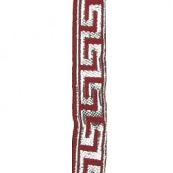 Ширит 10 мм сребро ламе червен -9.5 метра
