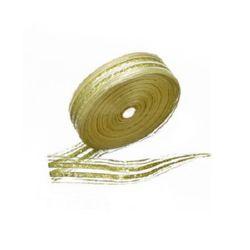 Лента органза 25 мм злато със сребро