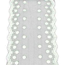 Panglică din dantelă 125 mm alb -20 cm