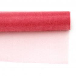 Organza  culoare pepene 48x450 cm