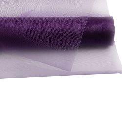 Organza 48x450 cm purple dark