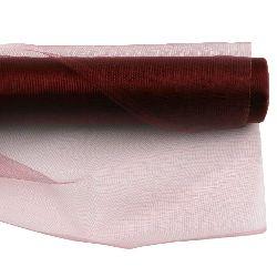 Organza 48x450 cm burgundy