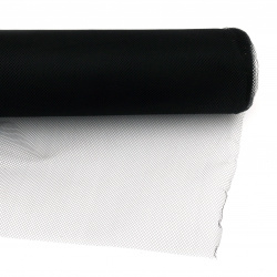 Тюл мек за декорация 48x450 см черен