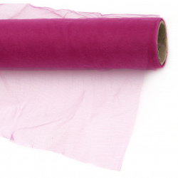 Tulle fine soft for decoration 48x900 cm cyclamen