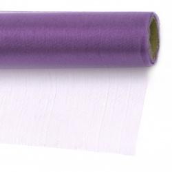 Тюл фин мек за декорация 48x900 см лилав