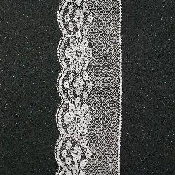 Panglică din dantelă 65 mm alb - 1 m