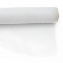 Тюл мек за декорация 48x450 см бял
