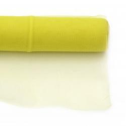 Тюл мек за декорация 48x450 см жълт