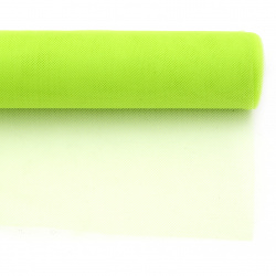 Tulle soft for decoration 48x450 cm green light