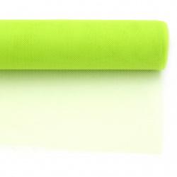 Тюл мек за декорация 48x450 см зелен светъл
