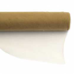 Tulle soft for decoration 48x450 cm beige dark