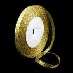 Лента органза 6 мм злато ~22 метра