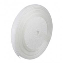 Panglică Organza 12 mm alb ~ 45 metri