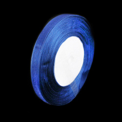 Panglică Organza 15 mm albastru închis ~ 45 metri