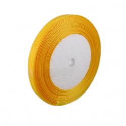Panglică Organza 20 mm galben închis -45 metri