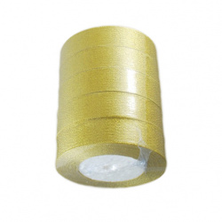Panglică Organza 25 mm auriu ~ 22 metri